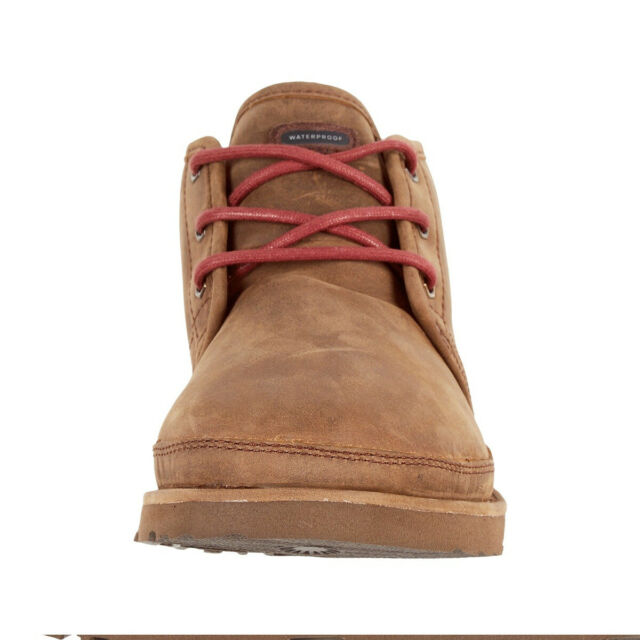 44e4dfded09 UGG Australia Neumel Waterproof Leather Lace up Boot Grizzly 1017254 Men's  WP 10