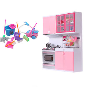 Kitchen Kids Cooking Pre-school Toys Cook Play Set for Children Boys Girls Gift