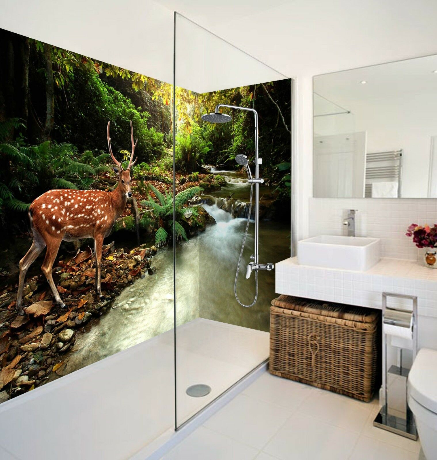 3D Sika Deer Forest 43 WallPaper Bathroom Print Decal Wall Deco AJ WALLPAPER AU