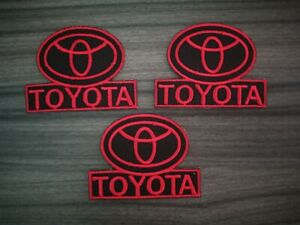 Toyota Motors Automotive Iron Sew on Embroidered Patch
