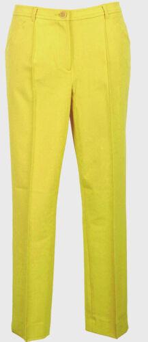GIALLO!! ELEGANTE Tubi Pantaloni Regular-fit 36 38 42 44 46 Singh S Madan 035582 NUOVO