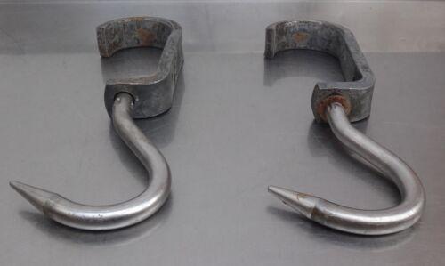 Rohrbahnhaken Metzgerhaken mit Aufzughaken Metzgerei butcher hook equipment