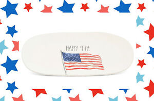Rae-Dunn-Artisan-Collection-By-Magenta-Happy-Fourth-4th-July-Flag-Tray-Dish