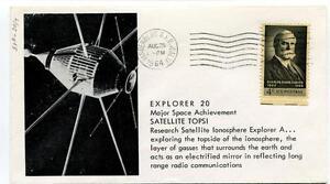 1964 Explorer20 Major Space Achievment Satellite Topsi Vandenberg California Sat Produire Un Effet Vers Une Vision Claire