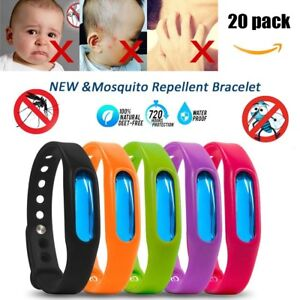 Image Is Loading 20pc Anti Mosquito Pest Bug Repellent Wrist Band