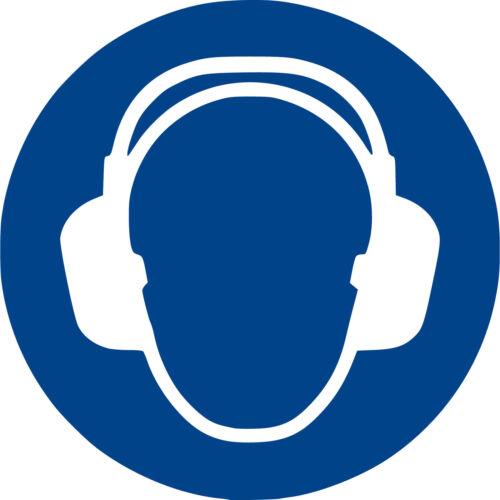 Gebotszeichen M003 Gehörschutz benutzen Aufkleber Ø 20 cm nach ISO7010