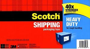 3M Scotch Heavy Duty Packaging / Shipping / Moving TAPE Bonus Roll High Quality