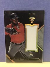 Marcell Ozuna 2016 Topps Triple Threads Jumbo Game Used Jersey Relic SP/27