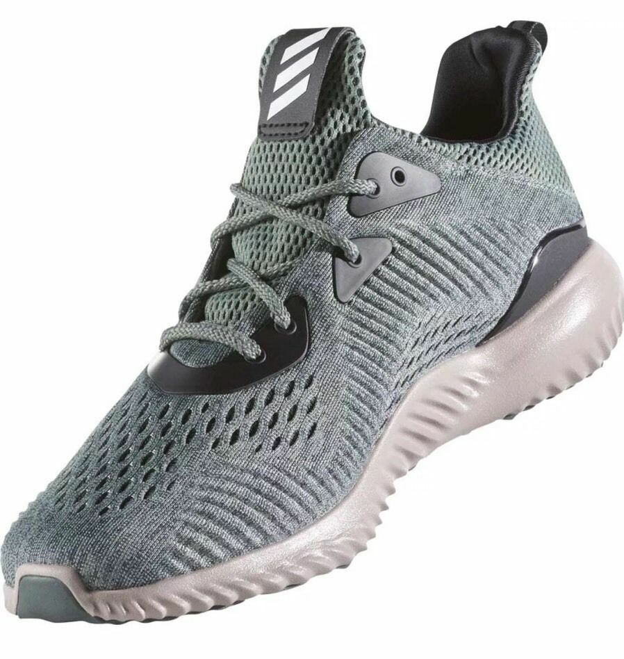 Adidas Alphabounce EM M Running Shoes Utility Ivy / Trace Green Sz 12 BB9042