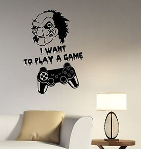 Image Is Loading Jigsaw Video Game Quote Wall Sticker PS Joystick
