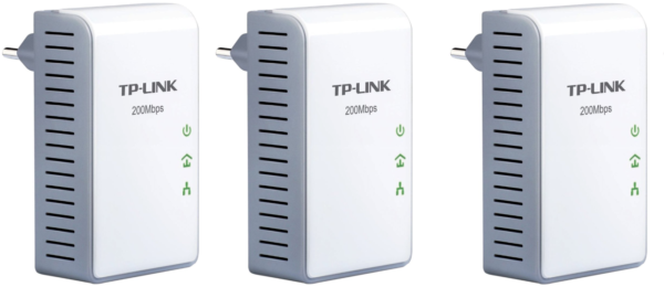 3x Tp-link Av200 Powerline Adapter Tl-pa210 Dlan Internet über Strom 08-01-03