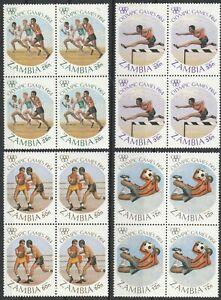 4er Blocks Olympia 1984 Sambia postfrisch 1153