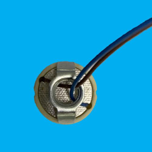 12x GU10 Céramique Lampe À Halogène Titulaire Socket M10 Support /& 490 mm joint Câbles