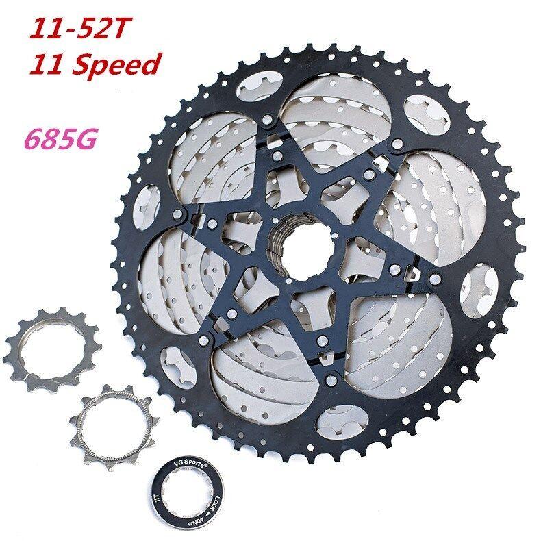 VG Sports 11-52T 11 Speed Bicycle Freewheel MTB Mountain Bike Cassette Cogs 685g