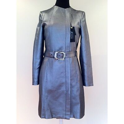 GUESS by MARCIANO Trench Coat METALLIC Shimmery HAUT-COUTURE Fitted M Jacket NWT