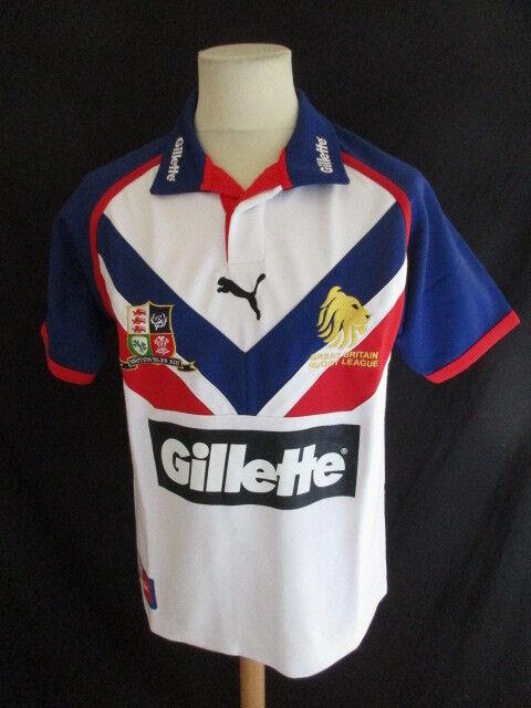Rare maillot de de de rugby vintage British XIII Great Britain Rugby League Puma Tai e843af