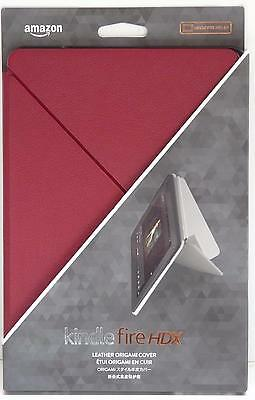 will only fit Kindle Fire HDX 8.9 Kindle Fire HDX 8.9 Standing Leather Origami Case Red