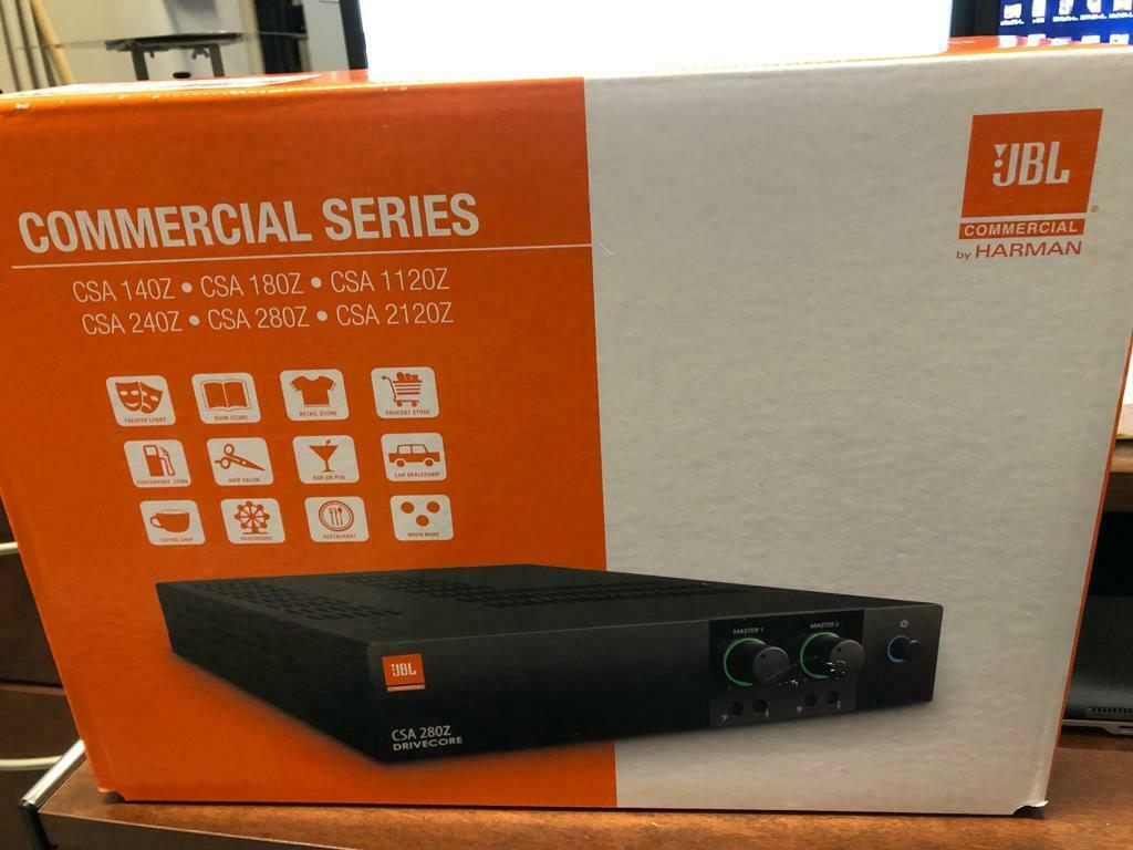 JBL Commercial Series Amp - Model Number CSA 2X80W NEW IN BOX