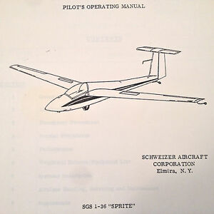 Details about Schweizer SGS 1-36 Pilot's Operating Manual