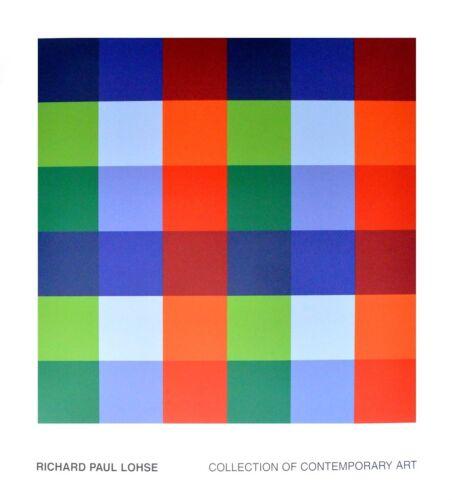 Richard P Lohse 9 x 4 Farborte Poster Kunstdruck Bild 104x96cm