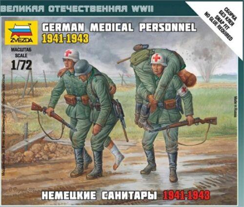 Zvezda 6143-1//72 Wargame Addon Deutsche Sanitäter 1941-43 Neu