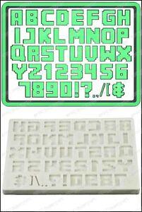 Détails Sur Moule Silicone Alphabet Pixel Texte Nourriture Usage Fpc