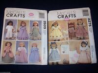 """(2) 18"""" Doll Clothes Mccall's Sewing Patterns 2609 & 3275 Out Of Print"""