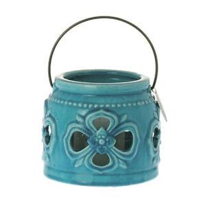 Grand-porte-bougie-en-ceramique-bleue