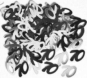 Konfetti Schwarz//Silber Zahl 18 30 40 50 60 70 80 90 100 Deko Geburtstag 1cm Ø