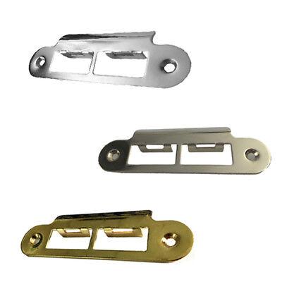 Strike Plate Polished Chrome Satin Brass Square Long Tubular Mortice Latch Lock
