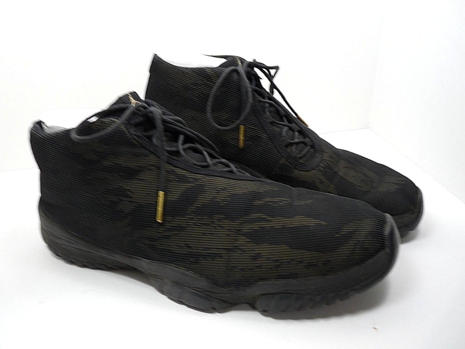 Nike Air Jordan Future Black Metallic Gold Tiger Camo 656503 035 Sz 14 Euro 48.5 Great discount