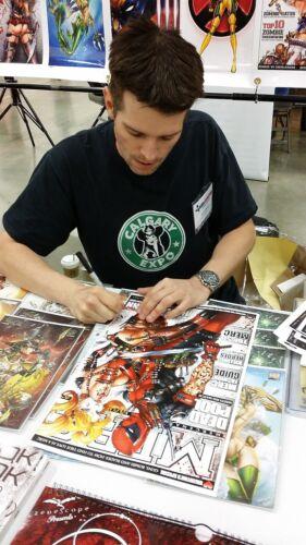 ROGUE Print X-Men HAND SIGNED Jamie Tyndall w COA