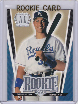 Carlos Beltran Upper Deck Mlb Debut Rookie Card Baseball Rc Royals Houston Astro Ebay