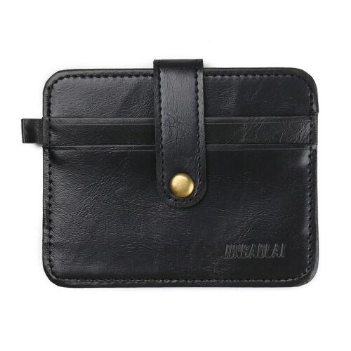 Slim Hommes Mini en Cuir Véritable Portefeuille ID carte de crédit titulaire cas sac à main Sac Pochette