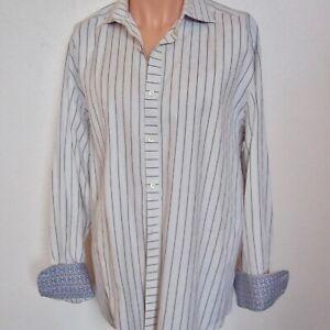 Robert-Graham-flip-cuff-mens-shirt-SZ-Large-striped