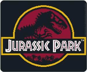 Mouse Pad Jurassic Park Pixel Logo Flexible Mousepad 9 1/8x7 7/8in ABYstyle