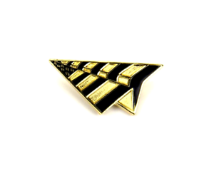 ROC-NATION-GOLD-HAT-PAPER-PLANES-PIN