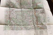 20703 alte Landkarte Schwiebus Schwerin Frankfurt Oder Küstrin Landsberg 1936