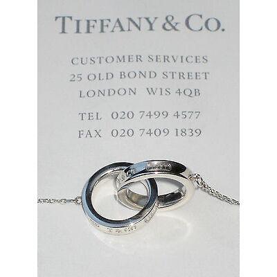 Tiffany & Co 1837 Interlocking Circles Pendant Sterling Silver Necklace