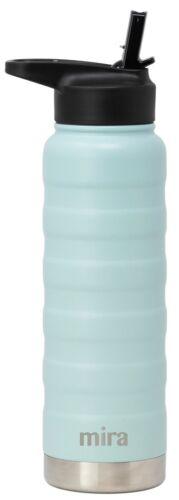 25 oz Pearl Blue Mira en acier inoxydable isolation sous vide Ridge bouteille d/'eau