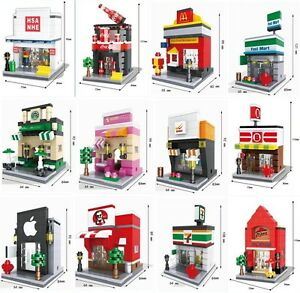 HSANHE Nano Micro Building Blocks Toys Mini Street Children's Gift