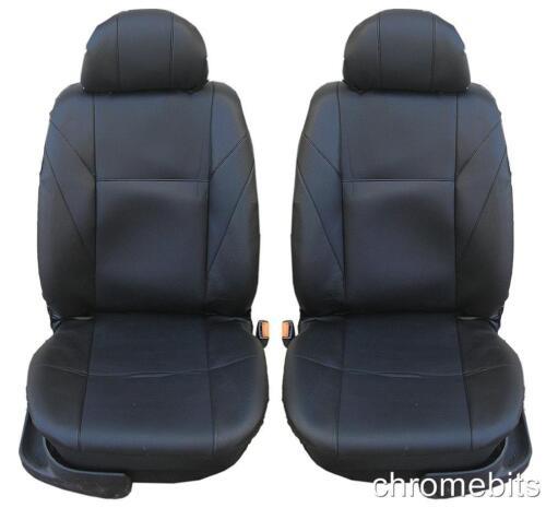 Delante Cuero Negro Cubiertas para Asientos Nissan Pathfinder X-Trail Navara