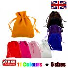 1 x Velvet Gift Pouches Wedding Bags Jewellery Pouch in 11 Colours & 6 Sizes