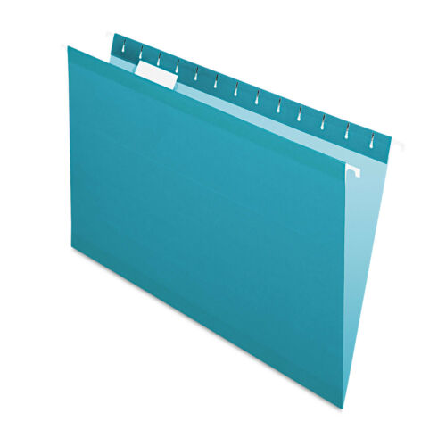 Pendaflex Reinforced Hanging Folders 1//5 Tab Legal Teal 25//Box 415315TEA