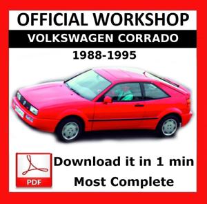 />/> OFFICIAL WORKSHOP Manual Service Repair Volkswagen Corrado 1988-1995