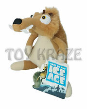 "ICE AGE PLUSH! SMALL SCRAT SQUIRREL BROWN SOFT DOLL TOY 8"" NWT"