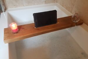 Vassoio Vasca Da Bagno : Wooden bath caddy tray bathtub board bath shelf wine tablet holder