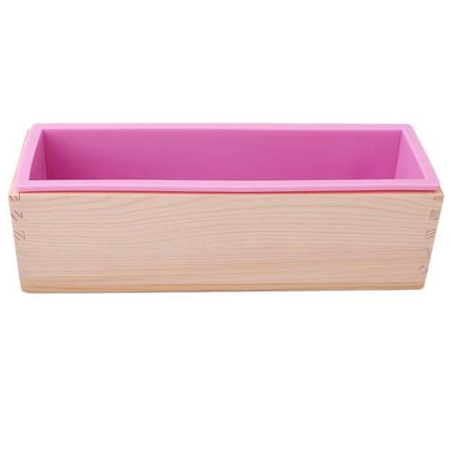 Plain Rectangle Soap Mold Silicone Craft DIY Making Homemade Cake Mould CB