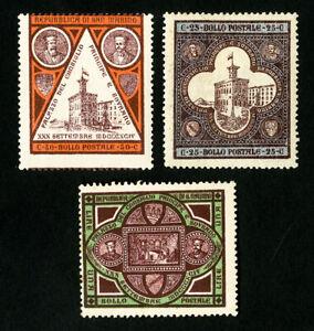 San-Marino-Stamps-28-30-F-VF-OG-LH-Catalog-Value-67-50