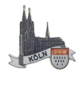Koeln-Cologne-Dom-Wappen-3D-Metall-Fridge-Magnet-Souvenir-Germany-edel-si